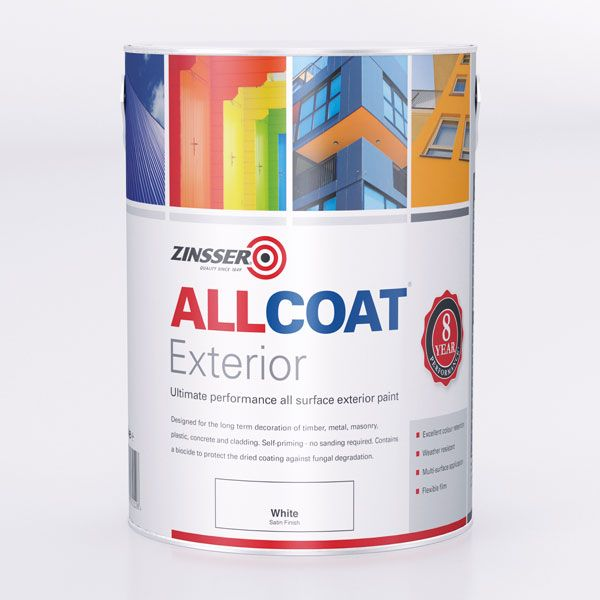 Zinsser AllCoat Exterior WB Satin Paint Standard Colours