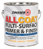 Zinsser AllCoat Interior Matt Solvent Based Paint Custom Mixed Colours