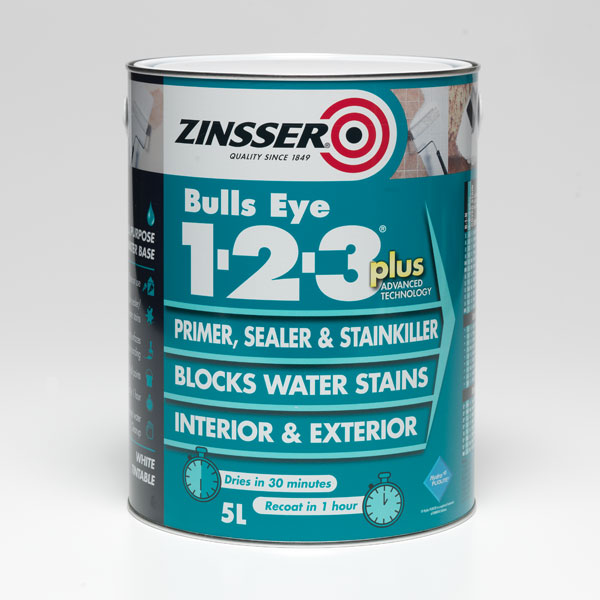 Zinsser Bulls Eye 1-2-3 Plus Primer Sealer Stain Killer